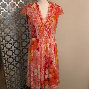 Adrianna Papell size 8 💯 silk dress